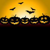 Bats Halloween Indicates Trick Or Treat And Celebration. Halloween Bats Meaning Trick Or Treat And Pumpkin Patch Royalty Free Stock Photography