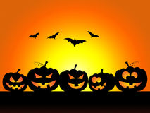 Bats Halloween Indicates Trick Or Treat And Celebration. Pumpkin Halloween Meaning Trick Or Treat And Squash Autumn Stock Photos