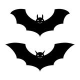 Bats halloween isolated. Bats black and white halloween isolated Stock Photos