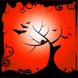 Bats Halloween Means Trick Or Treat And Autumn. Bats Halloween Representing Trick Or Treat And Treetop Reforestation Stock Images