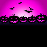 Bats Halloween Means Trick Or Treat And Celebration Royalty Free Stock Photography