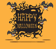 Bats. Halloween monster. Hand drawing image illustration Royalty Free Stock Image
