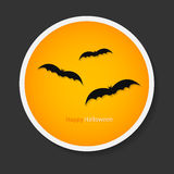 Bats for Halloween party background. For tags, labels or sticker. S Royalty Free Stock Photography