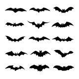 Bats icon great for any use. Vector EPS10. Royalty Free Stock Photos