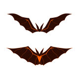 Bats Logo. Royalty Free Stock Photography
