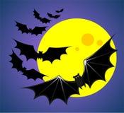 Bats and moon Stock Photo