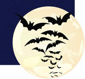 Bats of the moon Stock Photography