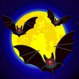 Bats and Moon Royalty Free Stock Photos