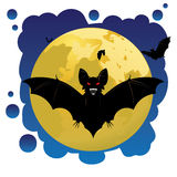 Bats and Moon Stock Images