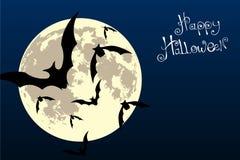 Bats in the moonlight Royalty Free Stock Photos