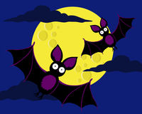 Bats in the night Royalty Free Stock Photography