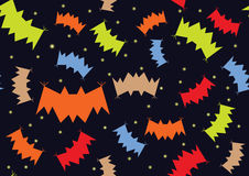 Bats night background halloween Royalty Free Stock Image