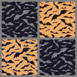 Bats pattern for halloween. Set of seamless background with bats. Royalty Free Stock Images