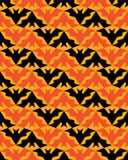 Bats Seamless Pattern Halloween Stripes Background stock photography