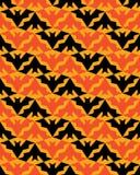 Bats Seamless Pattern Halloween Stripes Background stock illustration