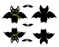 Bats set icon. Vector illustration. Vector illustration Royalty Free Stock Photos