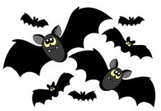 Bats silhouettes Stock Images