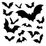 Bats silhouettes vector illustration