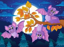 Bats theme image 5. Eps10 vector illustration Royalty Free Stock Photography