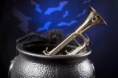 bats trumpet спайдера halloween Стоковая Фотография RF