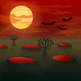 Bats-vampires in the moonlight. Stock Photo