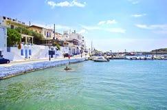 Batsi in Andors island Cyclades Greece Royalty Free Stock Photo