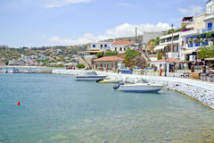 Batsi in Andros island Royalty Free Stock Photos