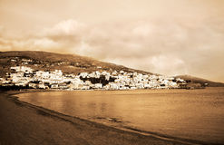 Batsi beach in Andros Greece Stock Photography