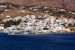 Batsi-Dorf Andros Lizenzfreies Stockbild