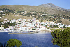 Batsi landscape in Andros Greece royalty free stock photos
