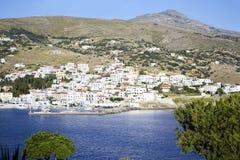 Batsi landscape in Andros Greece Royalty Free Stock Photos