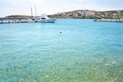Batsi landscape Andros island Greece Stock Image