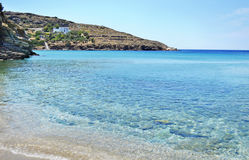 Batsi-Strand Andros-Insel Griechenland Stockbild