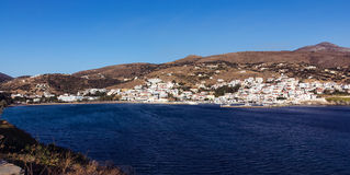 Batsi village Andros Royalty Free Stock Image
