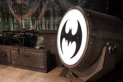Batsignal device at Cartoomics 2014 Royalty Free Stock Photography