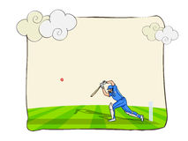 Batsman with bat and ball for Cricket concept. Stock Photography