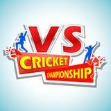 Batsman and bowler playing cricket championship Stock Photography