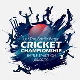 Batsman and bowler playing cricket championship sports. Illustration of batsman and bowler playing cricket championship sports Stock Image