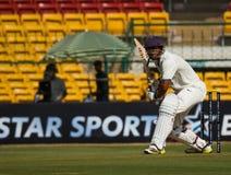 Batsman front foot. A batsman plays on the front foot stock image