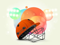 Batsman helmet for Cricket. Royalty Free Stock Image