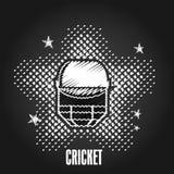 Batsman helmet for Cricket sport. Stock Photo