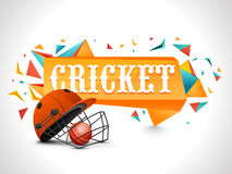 Batsman Helmet for Cricket Sports concept. Royalty Free Stock Photography
