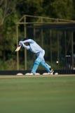 Batsman hitting cricket ball Stock Photos