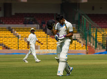 Batsman out. Manish Pandey batsman walks back after being dismissed in a cricket match Royalty Free Stock Image