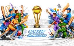 Batsman player playing cricket championship sports 2019 royalty free stock photo