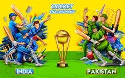 Batsman player playing cricket championship sports 2019 royalty free stock photos