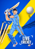 Batsman playing cricket championship Stock Image