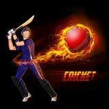 Batsman playing cricket championship Royalty Free Stock Photos