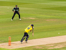 Batsman Playing in Cricket Match Royalty Free Stock Images