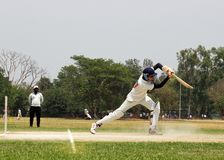 Batsman playing shot royalty free stock photo